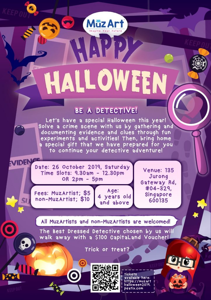 Be a detective Halloween activity of MuzArt