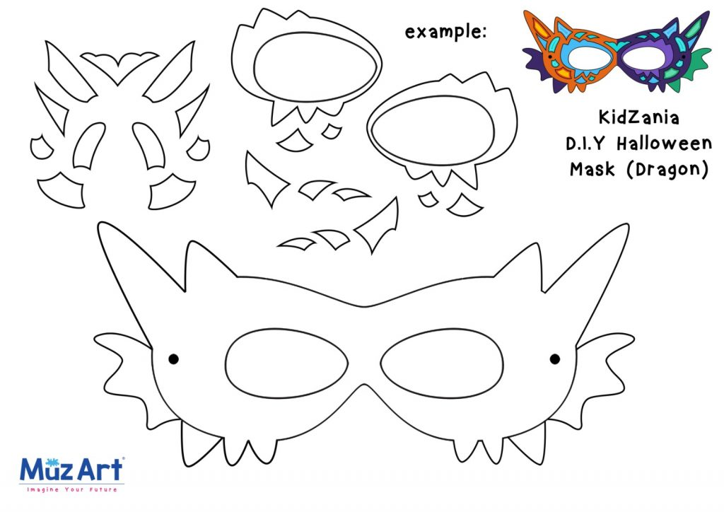 MuzArt and Kidzania DIY Halloween Mask Dragon