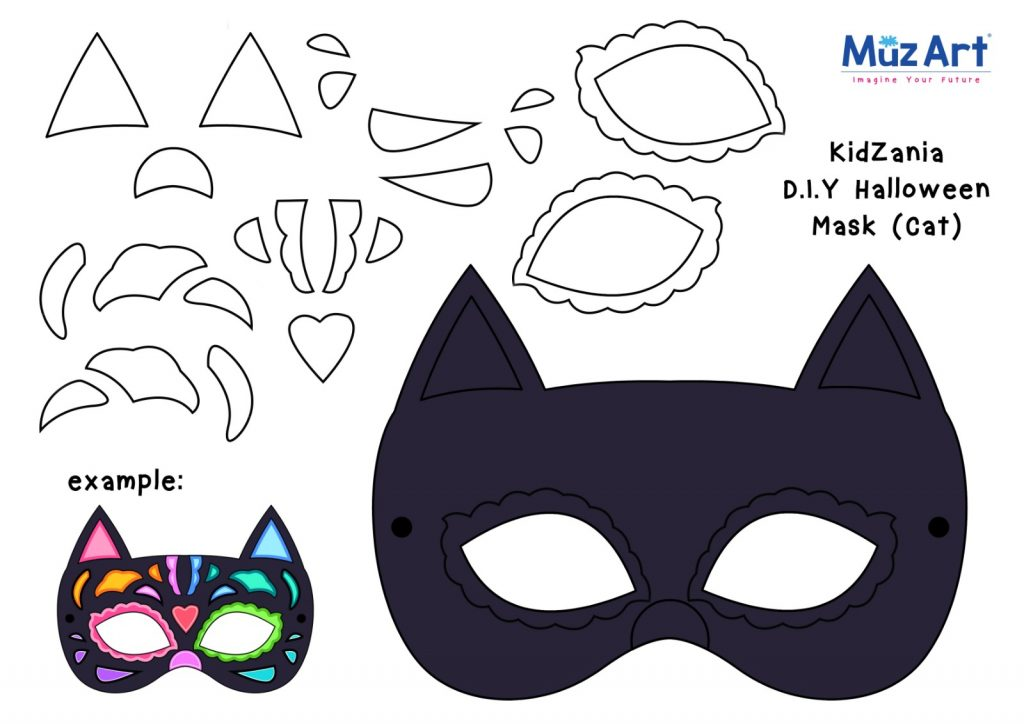 MuzArt and Kidzania DIY Halloween Mask Cat